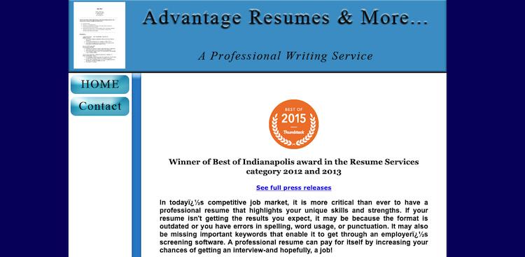 Advantage Resumes - Best Indianapolis Resume Service