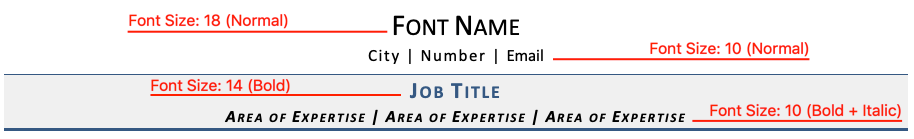Resume Font Key