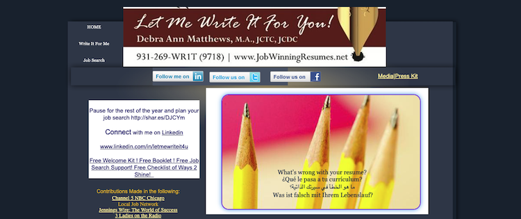 Let Me Write It For You - Best Memphis Resume Service