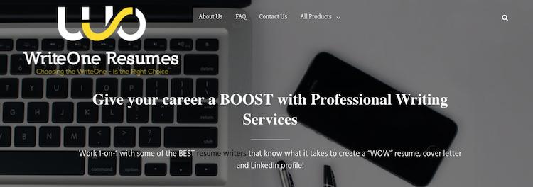 WriteOne Resumes - Best Marketing Resume Service