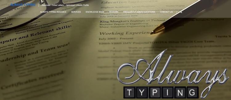 Always Typing - Best New Orleans Resume Service