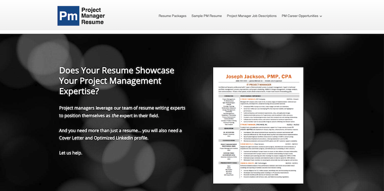 Project Manager Resume - Best Project Manager Resume Service