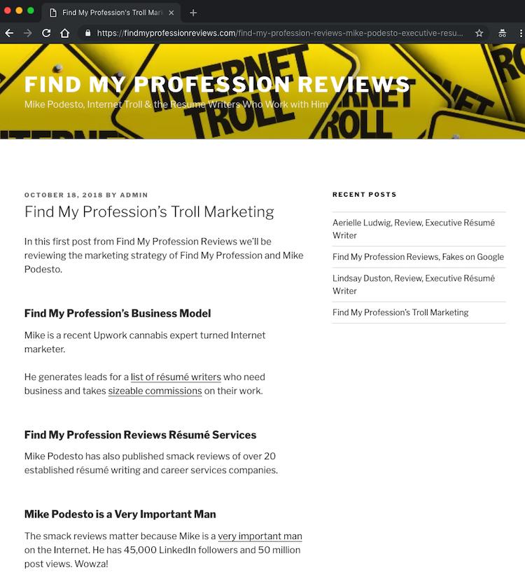 Donna Svei Fake Website 1